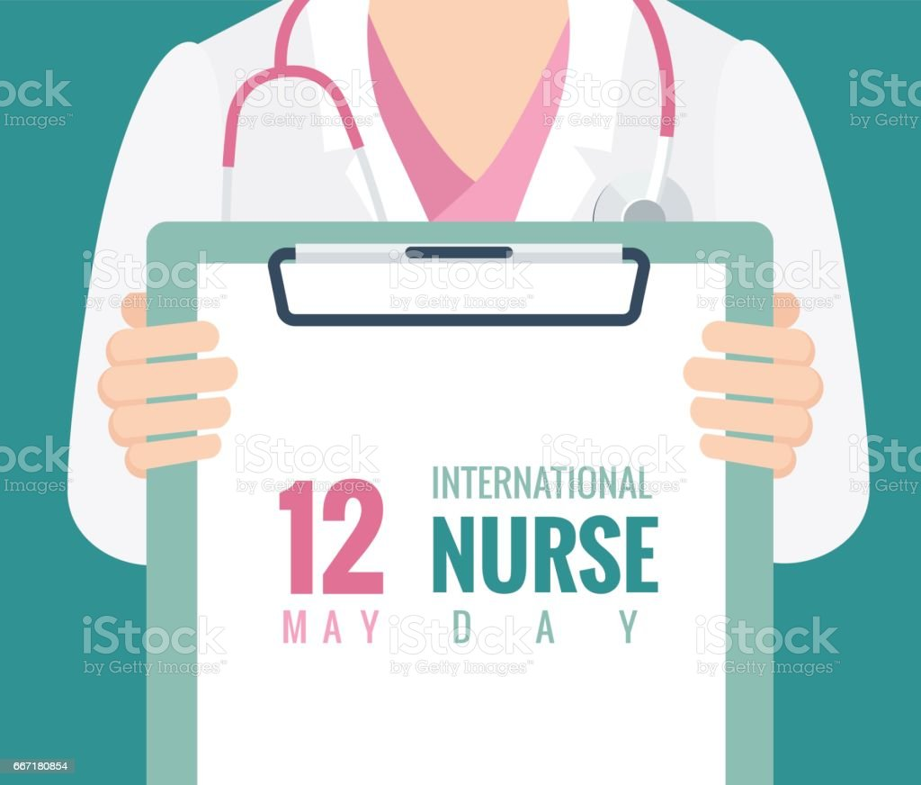 12 mai. Contexte international Nurse Day. - Illustration vectorielle