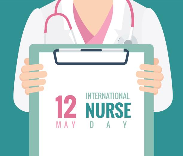illustrations, cliparts, dessins animés et icônes de 12 mai. contexte international nurse day. - suivi des malades