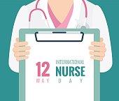 12 May. International Nurse Day background.