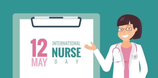 illustrations, cliparts, dessins animés et icônes de 12 mai. contexte international nurse day. - aide soignant