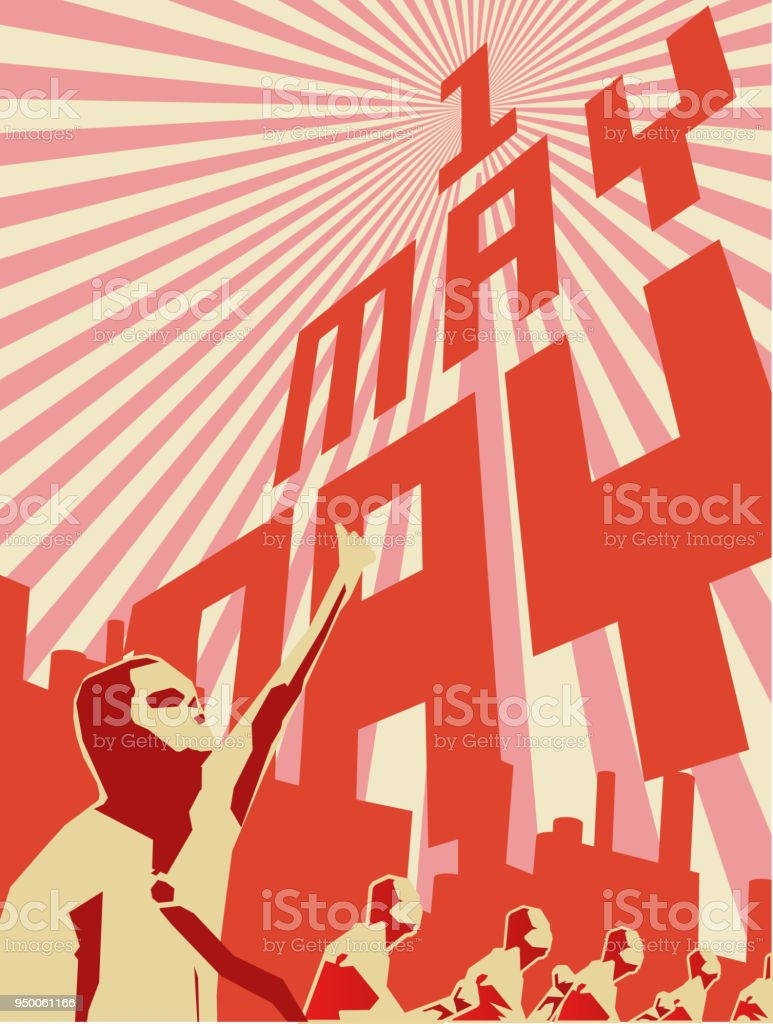 1 may labor day.International workers day vector art illustration