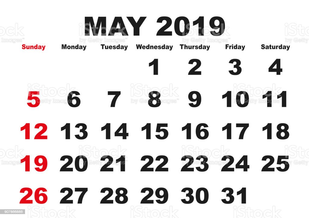 Image result for may 2019 holiday calendar