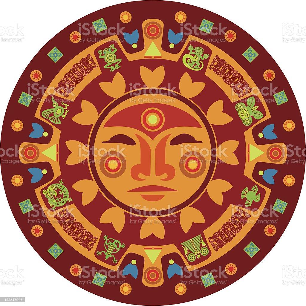 Mayan Calendar vector art illustration