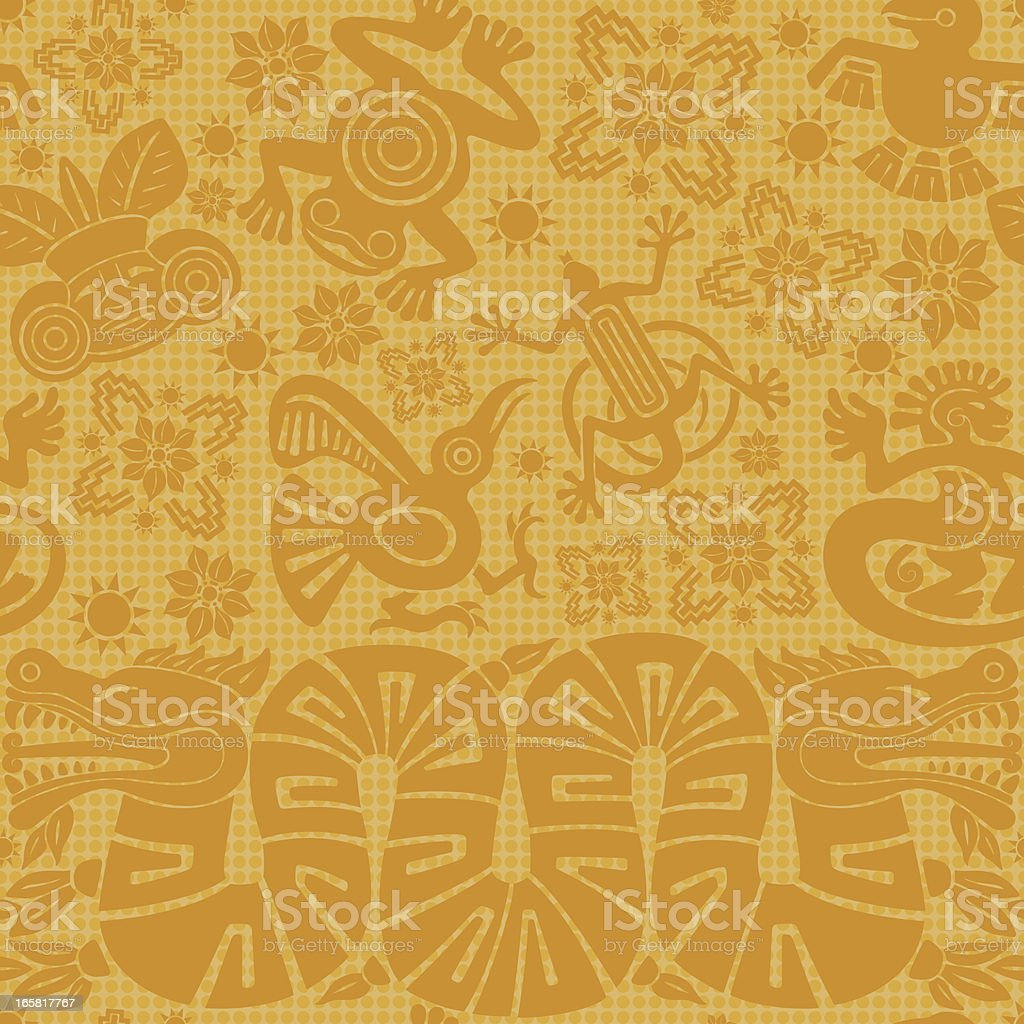 Mayan padrão sem emendas - ilustração de arte em vetor