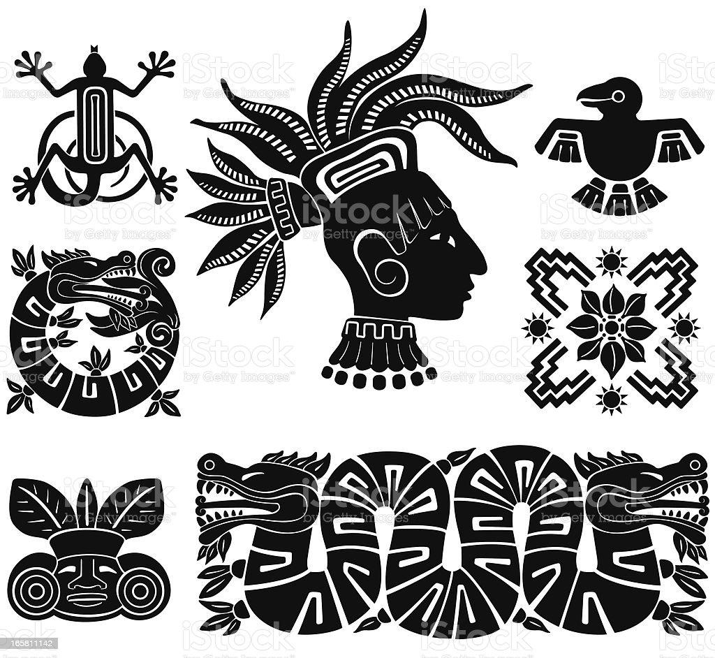 Mayan Calendar Vector Art : Mayan silhouette illustrations stock vector art more