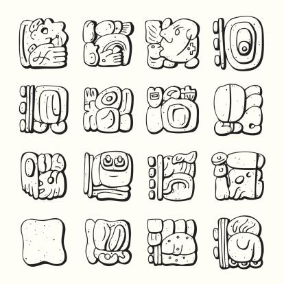 Mayan Symbol - Line-Art