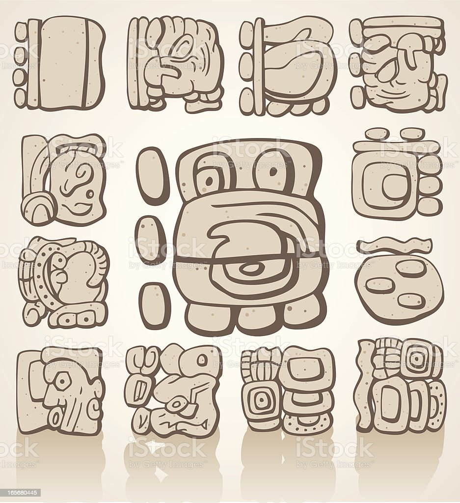 maya s237mbolos arte vectorial de stock y m225s im225genes de