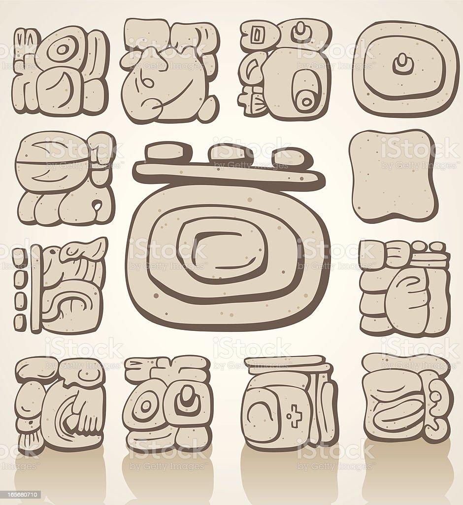 mayan symbols stock vector art amp more images of ancient