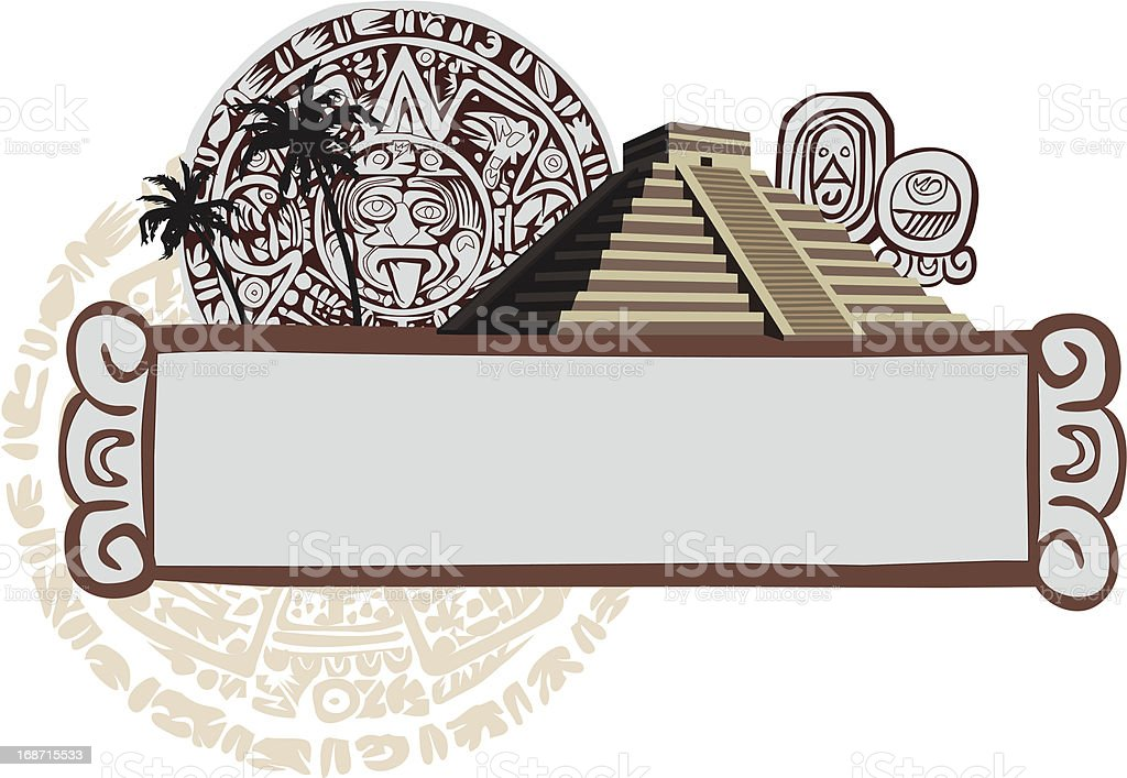 Mayan Symbols vector art illustration