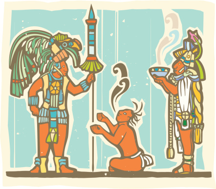 Mayan Warrior, Captive and Priest