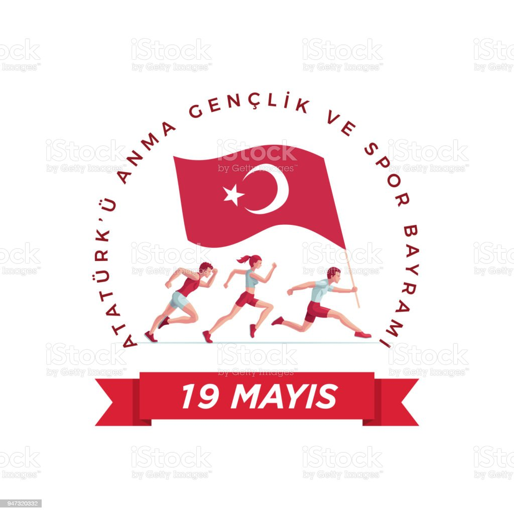19 mayis Ataturk'u Anma Genclik ve Spor Bayrami vector art illustration
