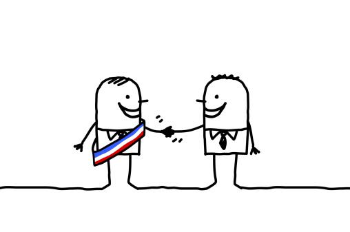 mayor & businessman handshake