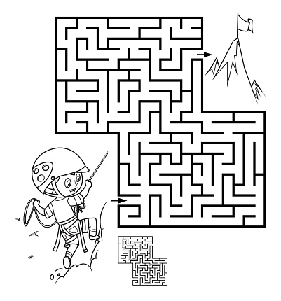 Maze, Boy climbing up the mountain
