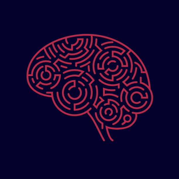 ilustraciones, imágenes clip art, dibujos animados e iconos de stock de cerebro de laberinto - brain
