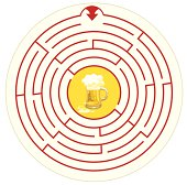 The beer on the labyrinth coaster illustraiton...