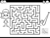istock maze color book with boy and baseball 980948836