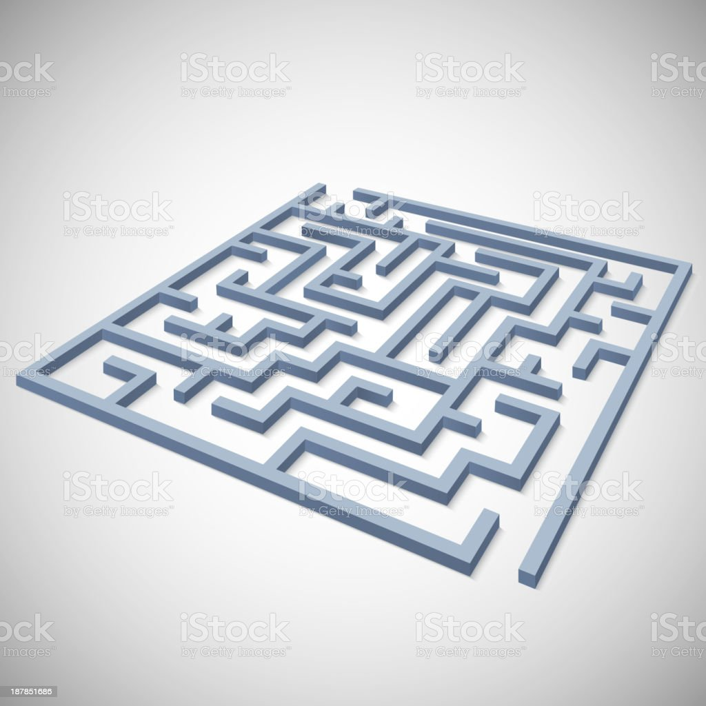 Maze concept for your business presentation royalty-free stock vector art
