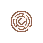 istock Maze Flat Icon. Pixel Perfect. For Mobile and Web. 1152887855