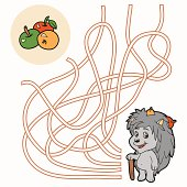 Maze Game for children (hedgehog)