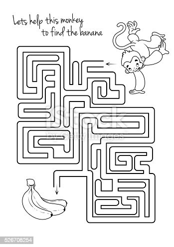 Maze Game For Kids With Monkey And Banana Gm526708254 92626097