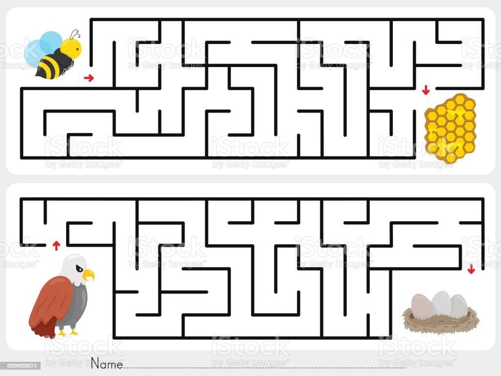 Labirent Oyun Ari Petek Bulup Kartal Yumurtalari Bulmak Icin