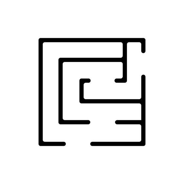 maze game icon vector outline illustration maze game icon vector. maze game sign. isolated contour symbol illustration backgammon stock illustrations