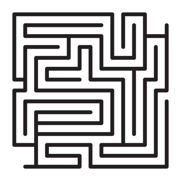 labyrinth-spiel-schema - labyrinthgarten stock-grafiken, -clipart, -cartoons und -symbole