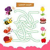 maze game vector design