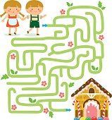 Maze game with Hansel and Gretel