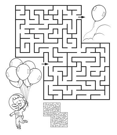 Maze, Girl with balloon