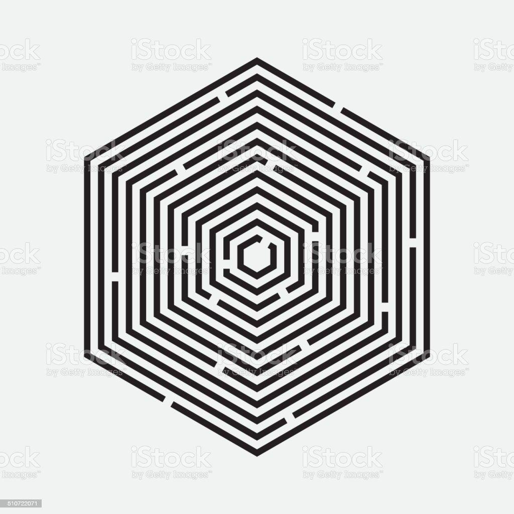 Maze Hexagon Vector Illustration Stock Vector Art & More ...