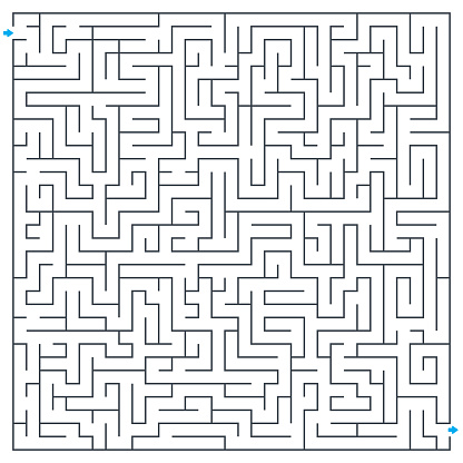 Maze Labyrinth Vector Illustration Square Maze High Quality Vector