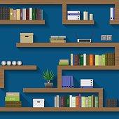 Maze of shelves