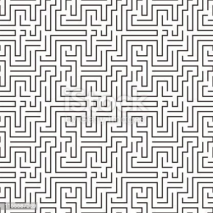 maze pattern seamless, vector illustration