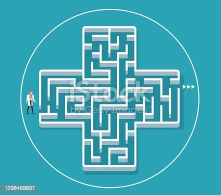istock Maze 1298469937