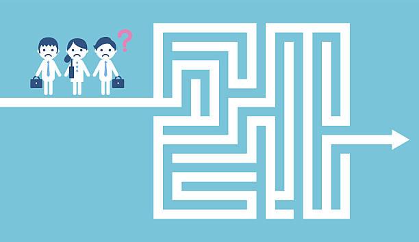 Maze vector art illustration