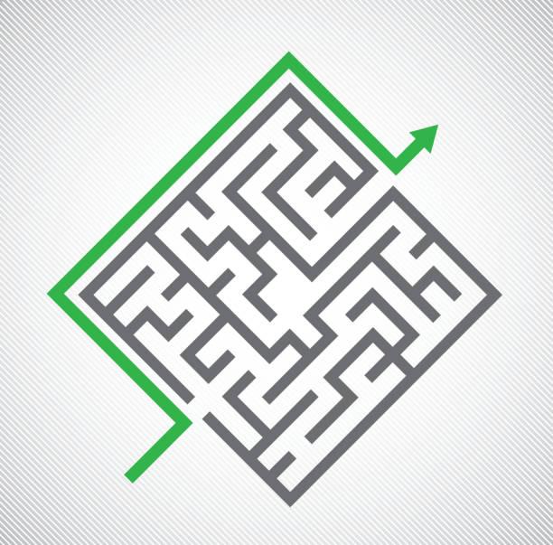 """maze""  - labyrinthgarten stock-grafiken, -clipart, -cartoons und -symbole"
