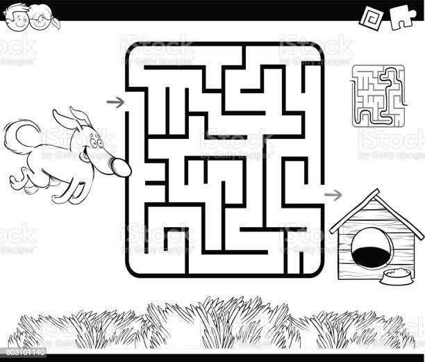 Maze with dog and kennel coloring page vector id803101140?b=1&k=6&m=803101140&s=612x612&h=42futzr6bjwt qhetddrd2azyx0fuoxvqepnukml4xc=