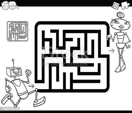 istock Laberinto del robot fácil 865414696 istock Laberinto del robot ...
