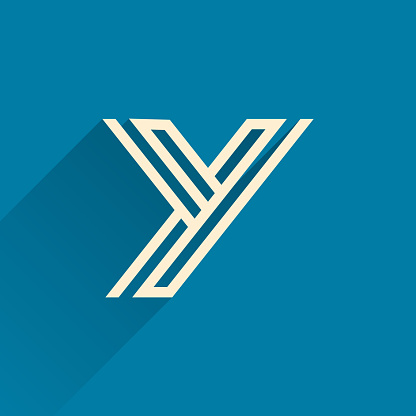 Maze Y letter logo made of three parallel lines.