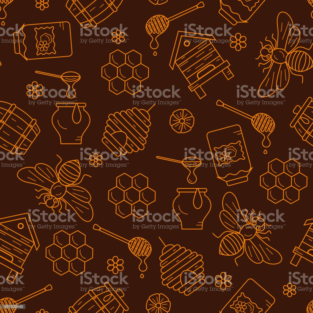 Mead seamless pattern illustration. vector art illustration