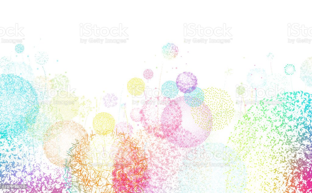 Meadow Abstract Background vector art illustration