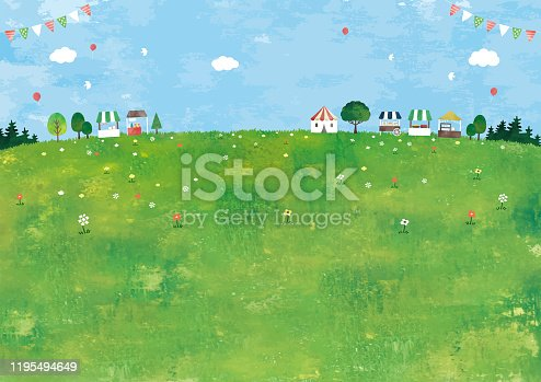 istock Meadow and market 1195494649