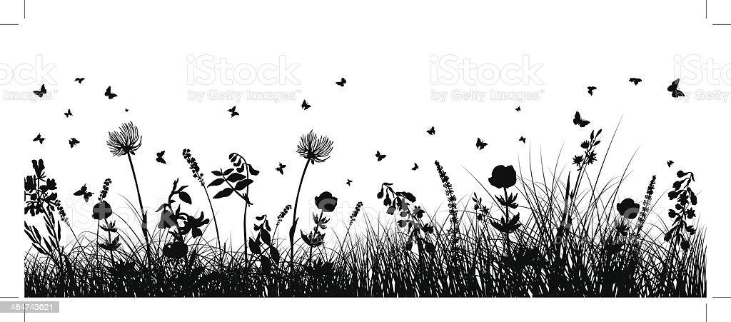 meadow Hintergrund – Vektorgrafik
