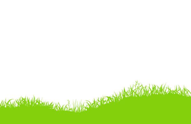 メドウシルエット 背景素材 - 草原点のイラスト素材/クリップアート素材/マンガ素材/アイコン素材