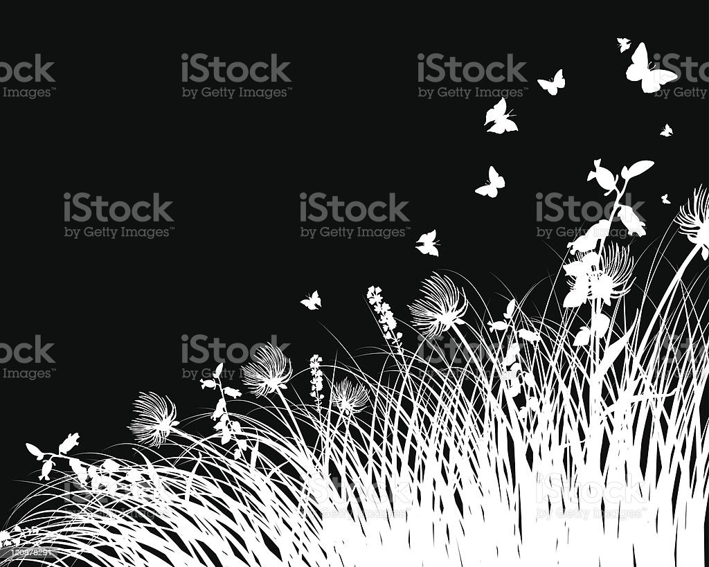 meadow silhouettes royalty-free meadow silhouettes stock vector art & more images of abstract