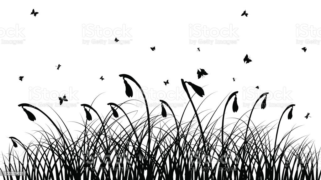 meadow royalty-free stock vector art