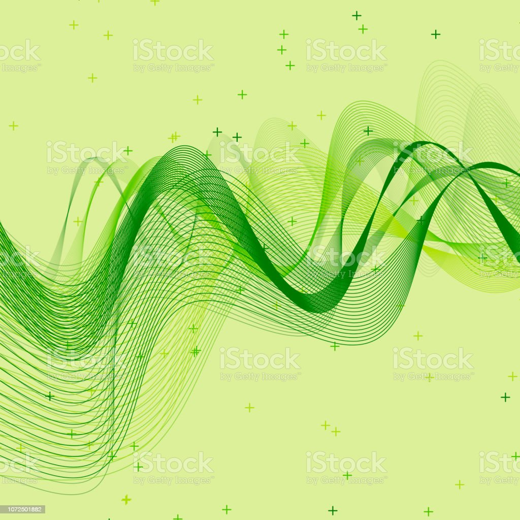 Meadow Wave Vector Pattern vector art illustration