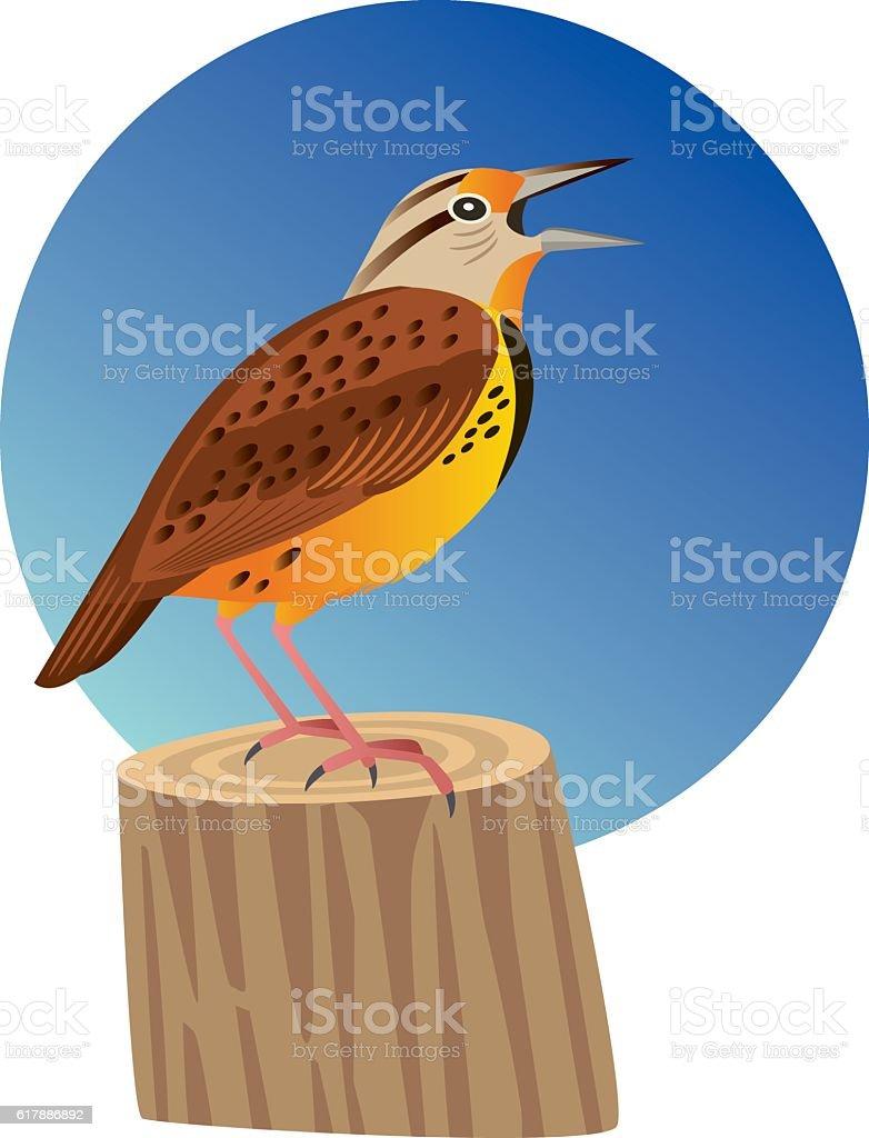 Meadowlark vector art illustration