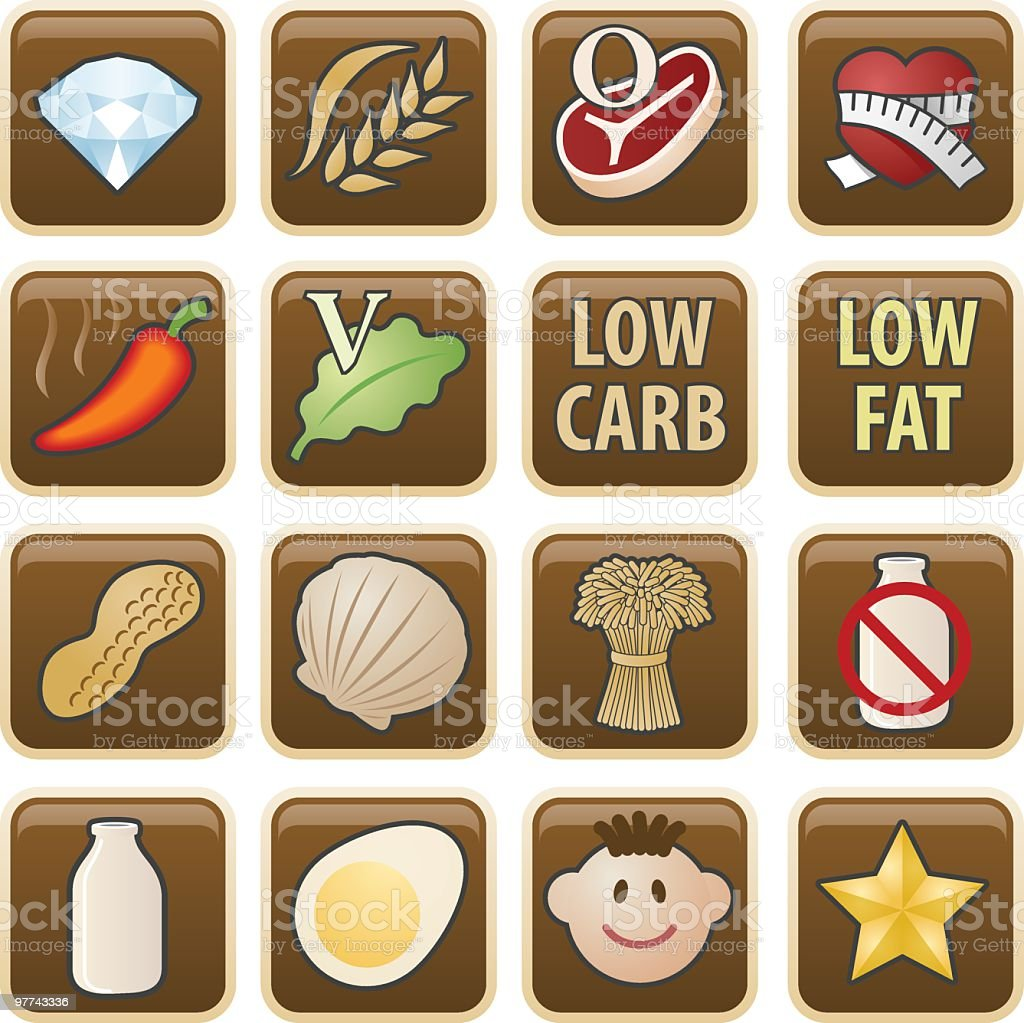 Meal Icons royalty-free stock vector art